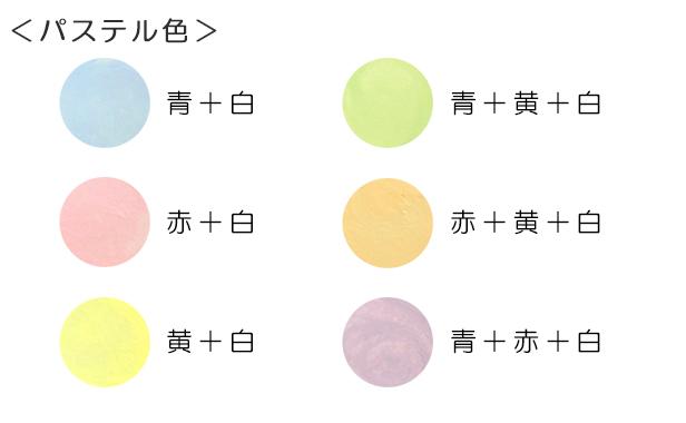 基本の5色でできる色